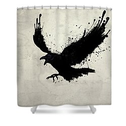 Raven Shower Curtain by Nicklas Gustafsson