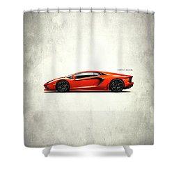 Lamborghini Aventador Shower Curtain by Mark Rogan