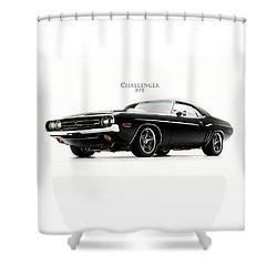 Dodge Challenger Shower Curtain by Mark Rogan
