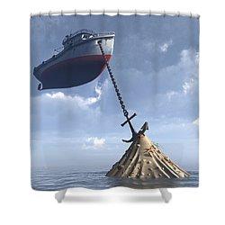 Dry Dock Shower Curtain by Cynthia Decker