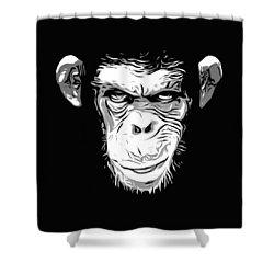 Evil Monkey Shower Curtain by Nicklas Gustafsson