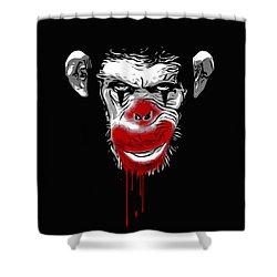 Evil Monkey Clown Shower Curtain by Nicklas Gustafsson