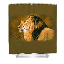 Side By Side Shower Curtain by Lucie Bilodeau