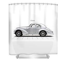 Aston Martin Atom Shower Curtain by Mark Rogan