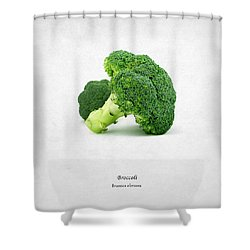 Broccoli Shower Curtain by Mark Rogan