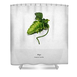 Hops Shower Curtain by Mark Rogan