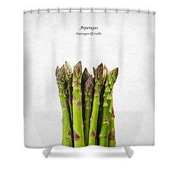 Asparagus Shower Curtain by Mark Rogan