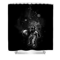 Deep Sea Space Diver Shower Curtain by Nicklas Gustafsson