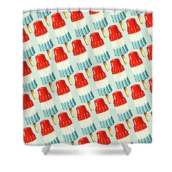 Bomb Pop Pattern Shower Curtain by Kelly Gilleran