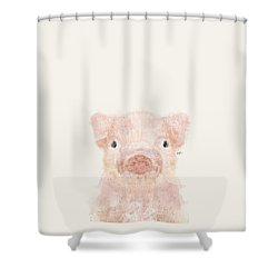 Little Pig Shower Curtain by Bri B