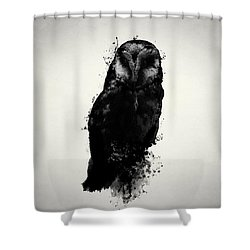 The Owl Shower Curtain by Nicklas Gustafsson