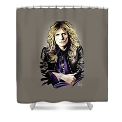 David Coverdale Shower Curtain by Melanie D