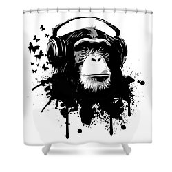 Monkey Business Shower Curtain by Nicklas Gustafsson