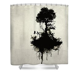 Last Tree Standing Shower Curtain by Nicklas Gustafsson