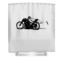 Roland Rollie Free Shower Curtain by Mark Rogan