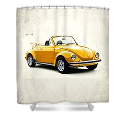 Vw Beetle 1972 Shower Curtain by Mark Rogan
