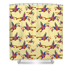Dove With Olive Branch Shower Curtain by Christina Rollo