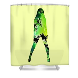 Assertive Shower Curtain by Anastasiya Malakhova