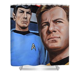 Assessing A Formidable Opponent Shower Curtain by Kim Lockman