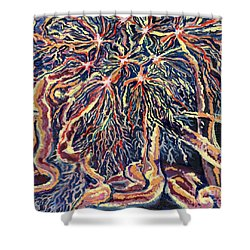 Astrocytes Microbiology Landscapes Series Shower Curtain by Emily McLaughlin