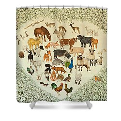 At The Heart Of It All Shower Curtain by Pat Scott