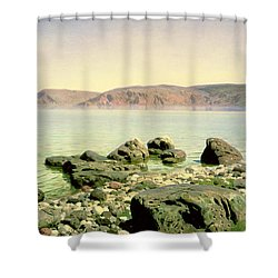 At The Sea Of Galilee Shower Curtain by Vasilij Dmitrievich Polenov