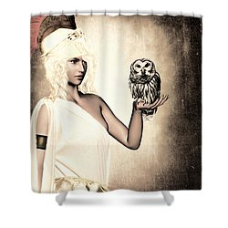 Athena Shower Curtain by Lourry Legarde