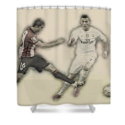 Athletic Club  Vs Real Madrid Shower Curtain by Don Kuing