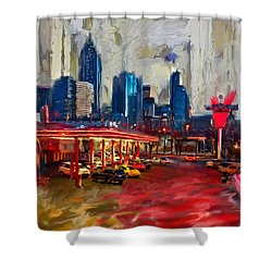 Atlanta Skyline 231 1 Shower Curtain by Mawra Tahreem