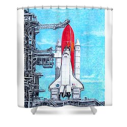 Atlantis Shower Curtain by Murphy Elliott