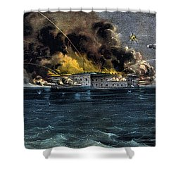 Attack On Fort Sumter Shower Curtain by War Is Hell Store