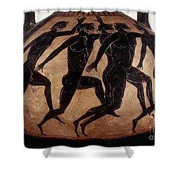 Attic Black-figured Vase Shower Curtain by Granger