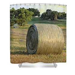 August Bales Shower Curtain by Bruce Morrison