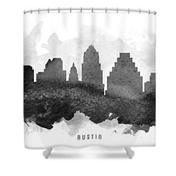 Austin Cityscape 11 Shower Curtain by Aged Pixel
