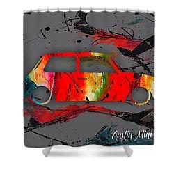 Austin Mini Cooper Shower Curtain by Marvin Blaine