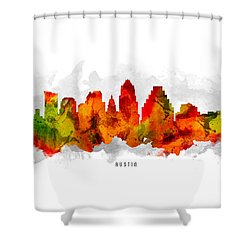 Austin Texas Cityscape 15 Shower Curtain by Aged Pixel