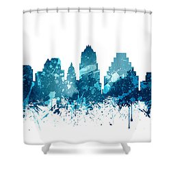 Austin Texas Skyline 19 Shower Curtain by Aged Pixel