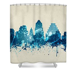 Austin Texas Skyline 20 Shower Curtain by Aged Pixel