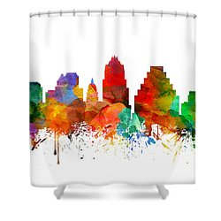 Austin Texas Skyline 21 Shower Curtain by Aged Pixel