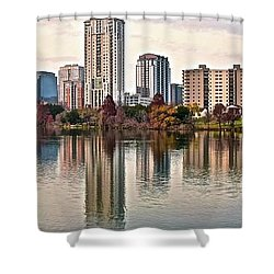 Austin Wide Shot Shower Curtain by Frozen in Time Fine Art Photography