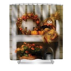 Autumn - Still Life - Symbols Of Autumn  Shower Curtain by Mike Savad