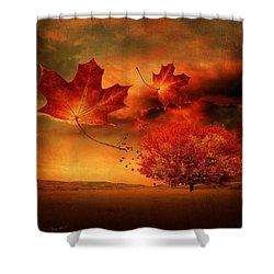 Autumn Blaze Shower Curtain by Lourry Legarde