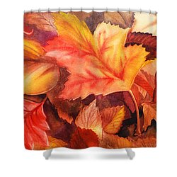 Autumn Leaves Shower Curtain by Irina Sztukowski