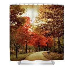 Autumn Maples Shower Curtain by Jessica Jenney