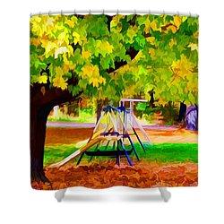 Autumn Playground 1 Shower Curtain by Lanjee Chee