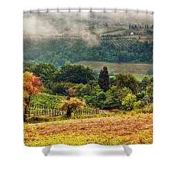 Autumnal Hills Shower Curtain by Silvia Ganora