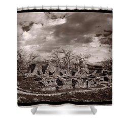 Aztec Ruins National Monument Shower Curtain by Steve Gadomski