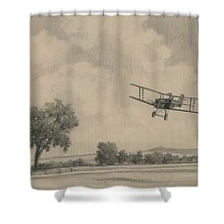 B Flights Back Shower Curtain by Wade Meyers
