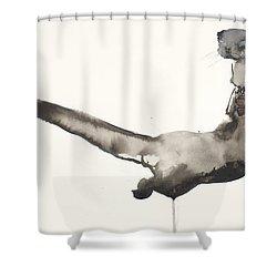 Back Awash   Otter Shower Curtain by Mark Adlington