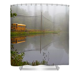 Back To School Shower Curtain by Karol Livote